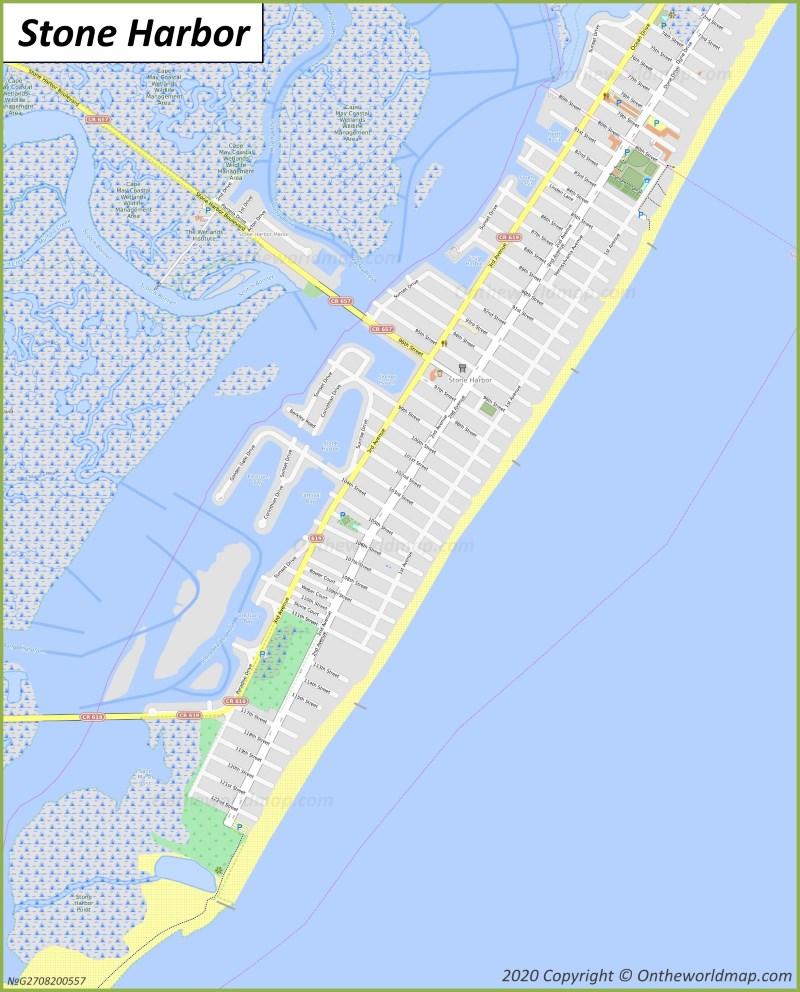 Map of Stone Harbor
