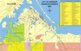 Superior tourist map