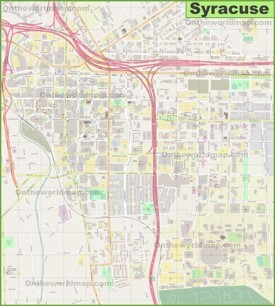 Syracuse downtown map