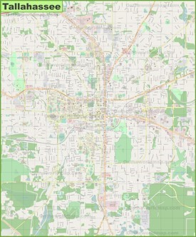Large detailed map of Tallahassee