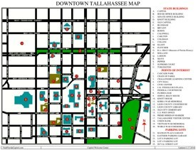 Tallahassee tourist map