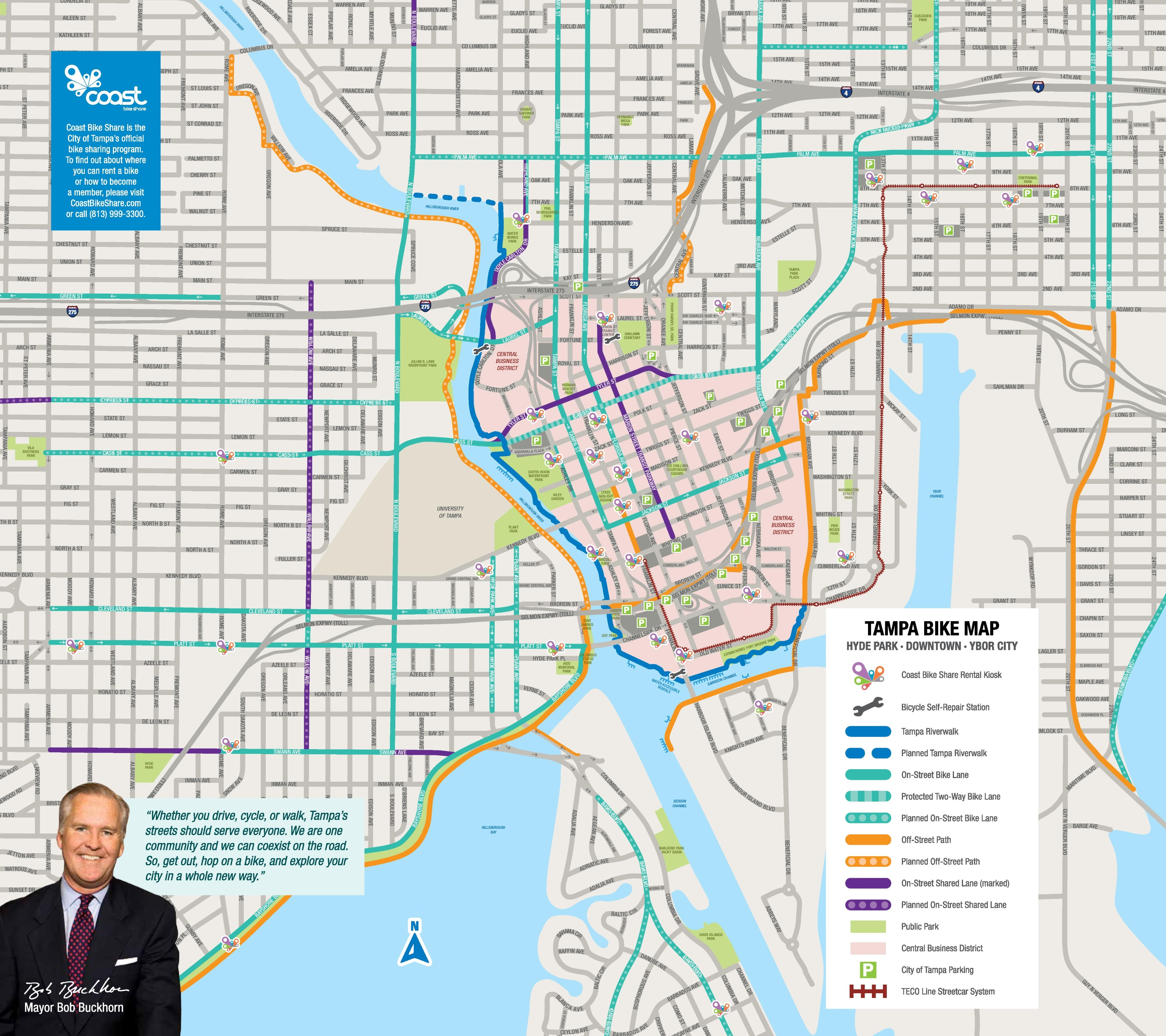 Tampa bike map