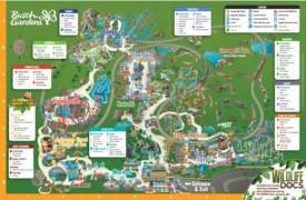 Tampa Busch Gardens Park map