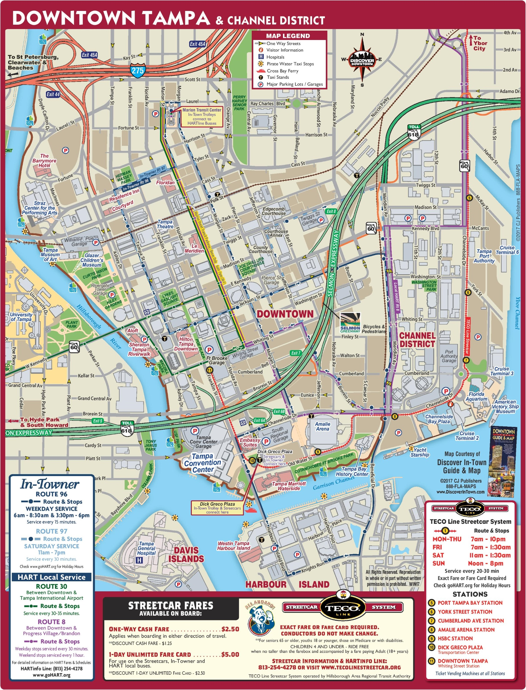 Tampa downtown map
