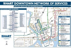 Tampa downtown transport map