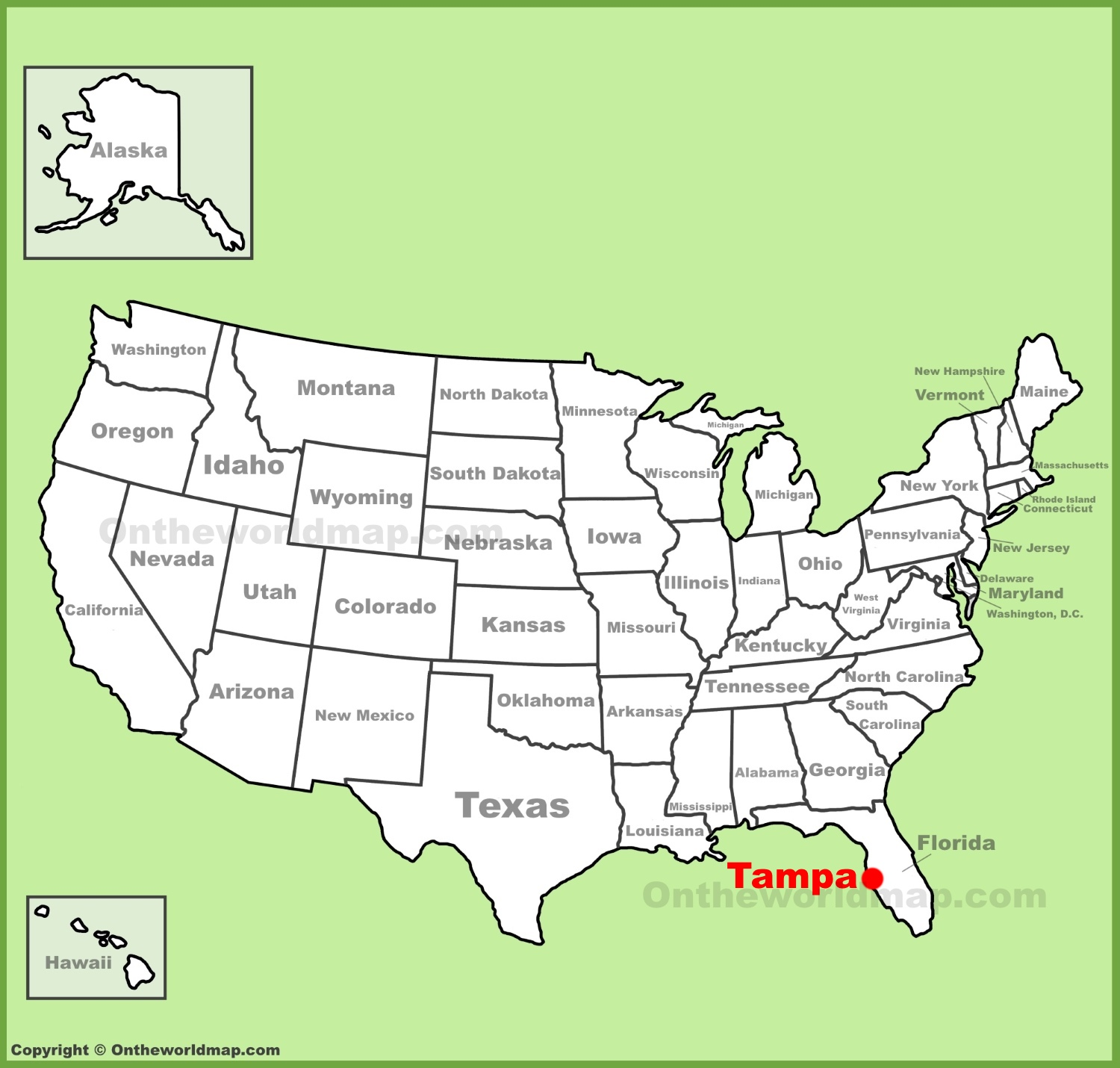 Tampa Location On The US Map - Where is tampa on map of us