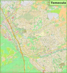Large detailed map of Temecula