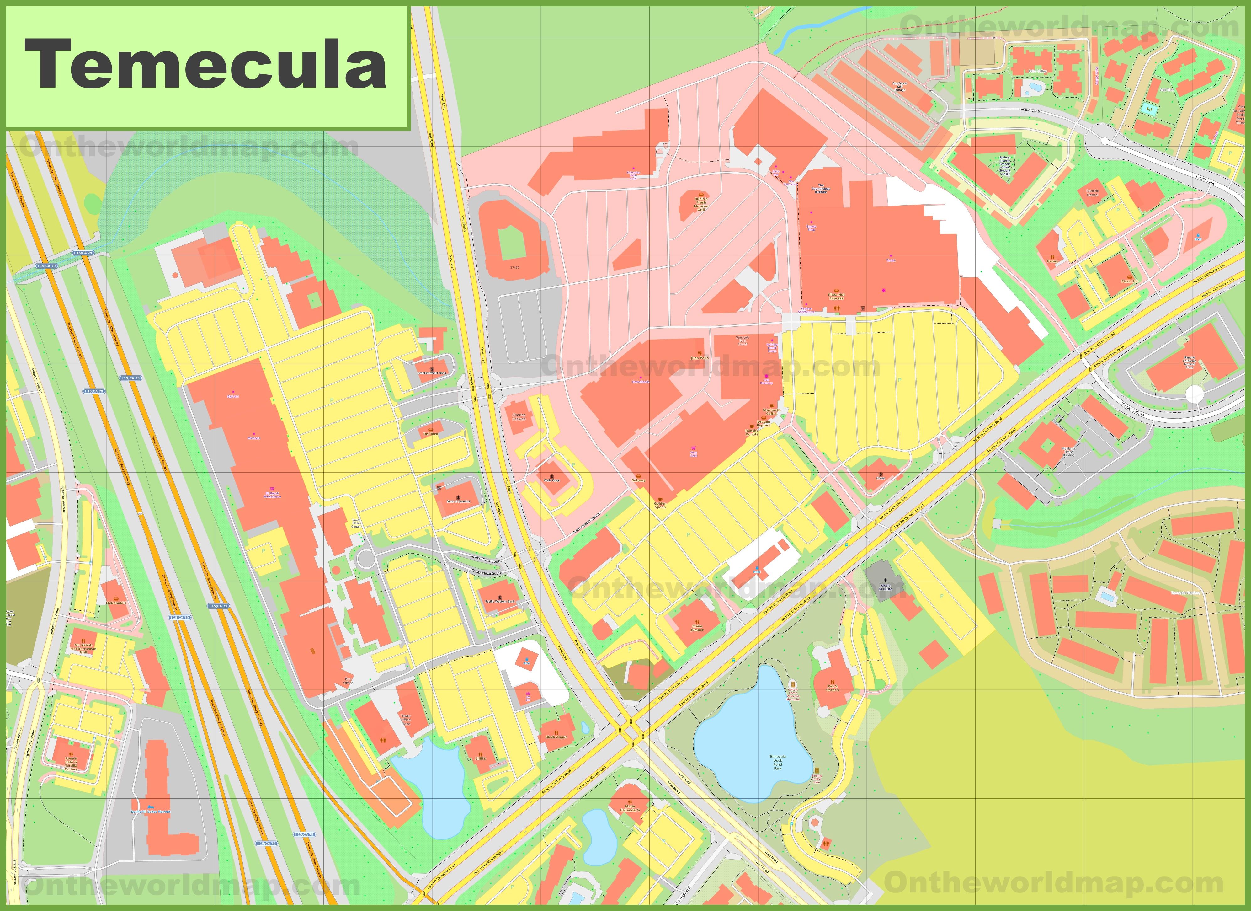 Temecula city center map