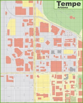 Tempe downtown map