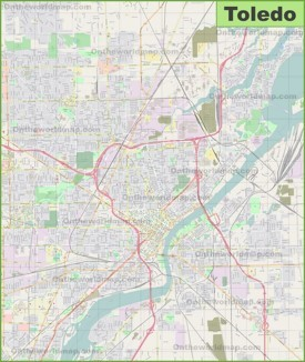 Large detailed map of Toledo
