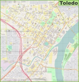 Toledo Maps Ohio US Maps of Toledo