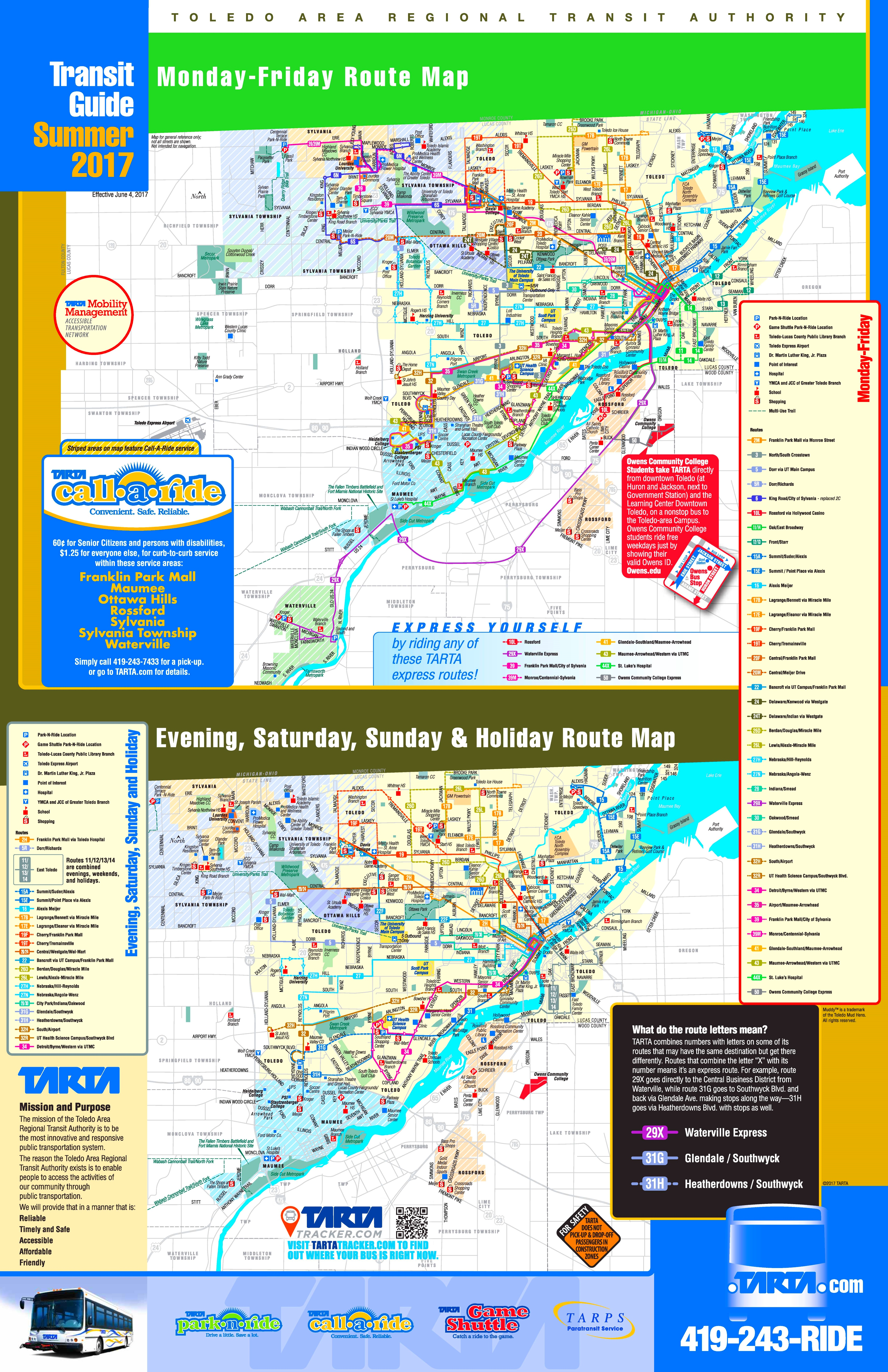 Toledo transport map