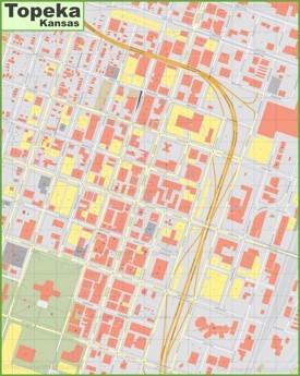 Topeka downtown map