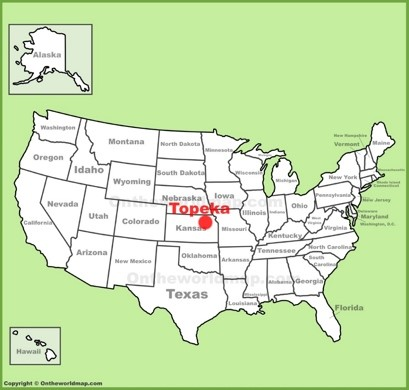 Topeka Location Map