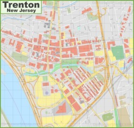 Trenton downtown map