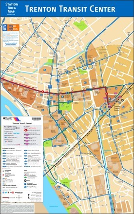 Trenton Transit Center Map