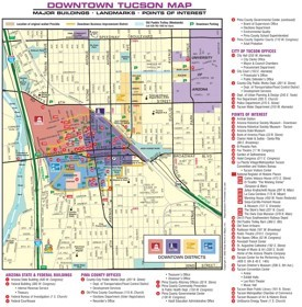 Tucson downtown map