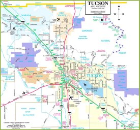 picture regarding Printable Map of Tucson Az identify Tucson Maps Arizona, U.S. Maps of Tucson