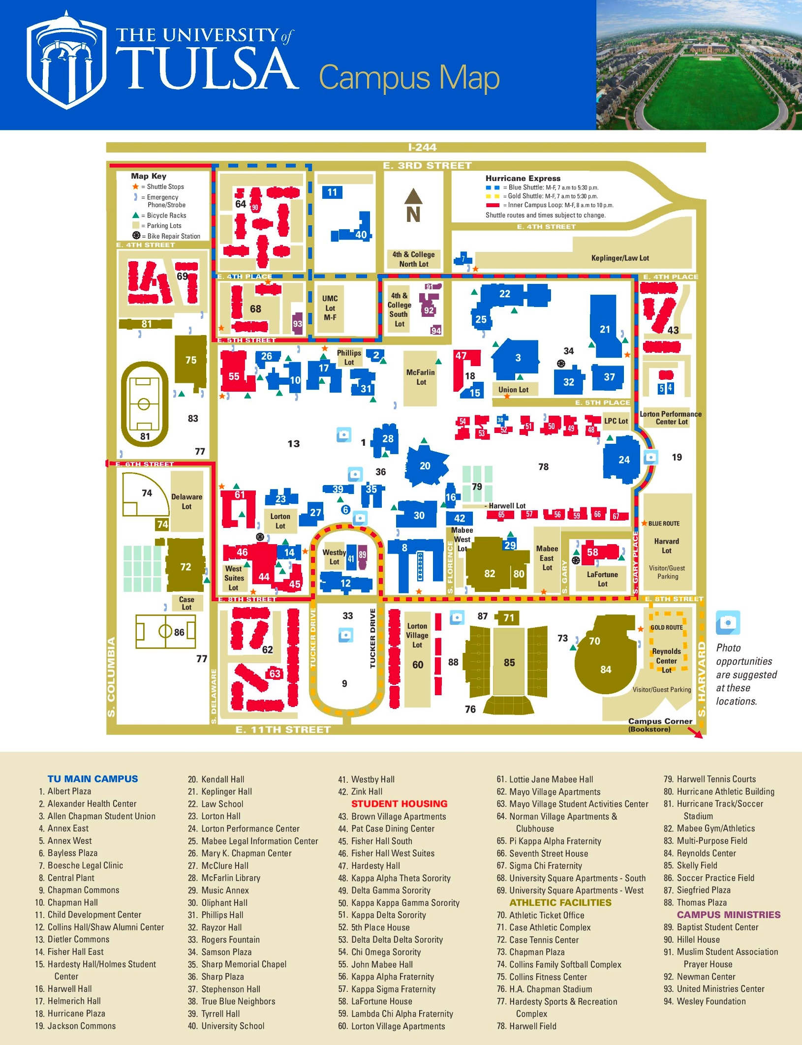 Tulsa campus map