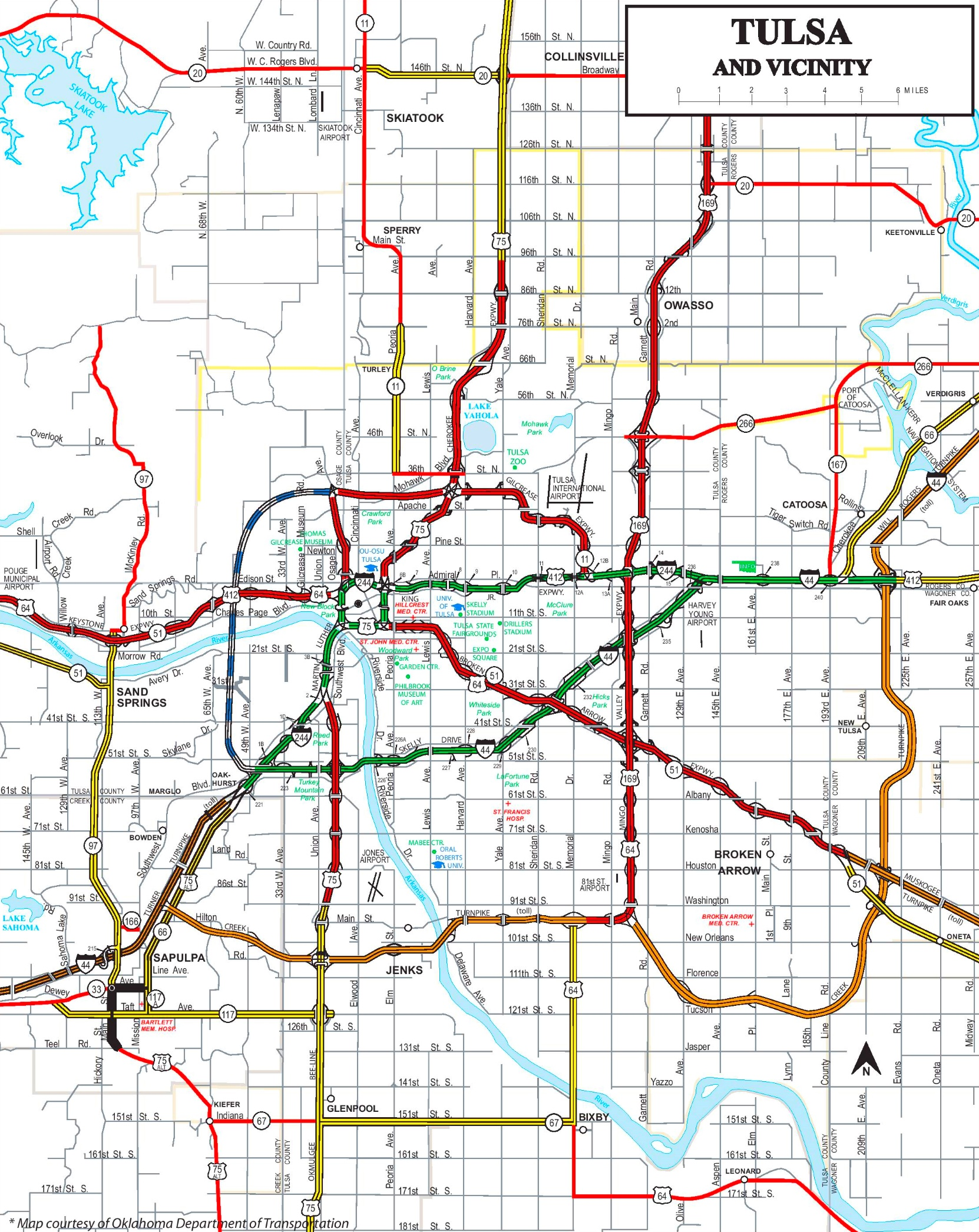 Tulsa road map