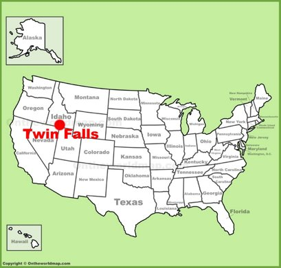 Twin Falls Location Map