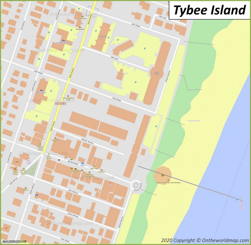Tybee Island Downtown Map