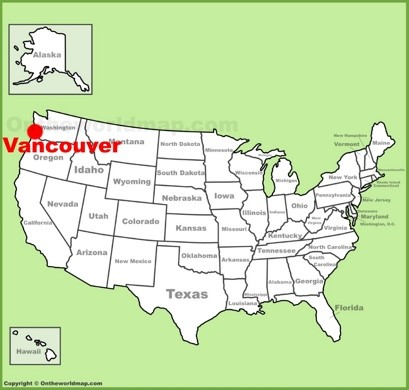 Vancouver Location Map