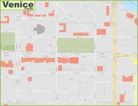 Venice Downtown Map