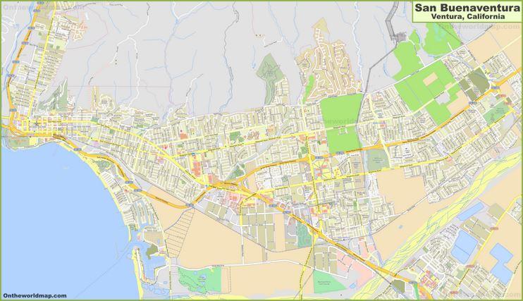 Detailed Map of Ventura