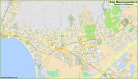 Detailed Map of Ventura