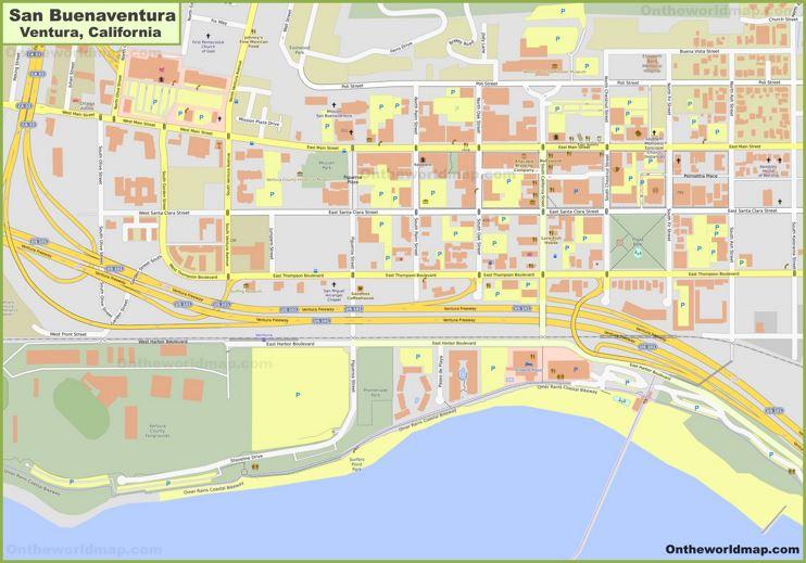 Ventura City Center Map