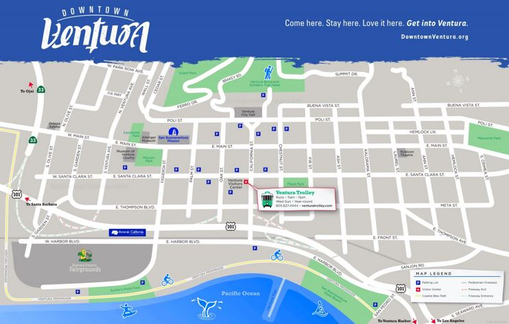 Ventura Downtown Map