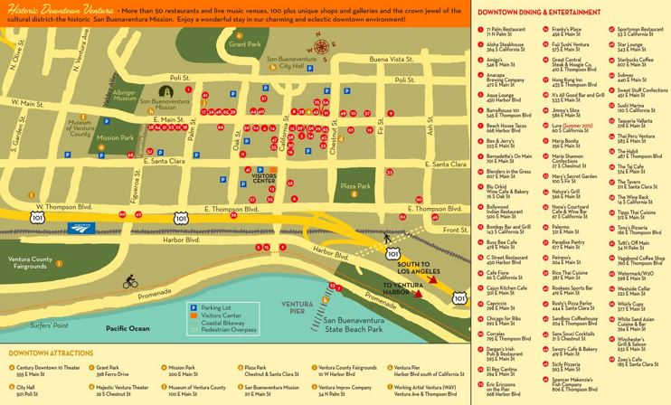 Ventura Tourist Attractions Map