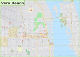 Large detailed map of Vero Beach