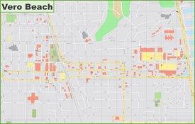 Vero Beach downtown map