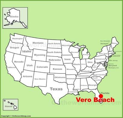 Vero Beach Location Map