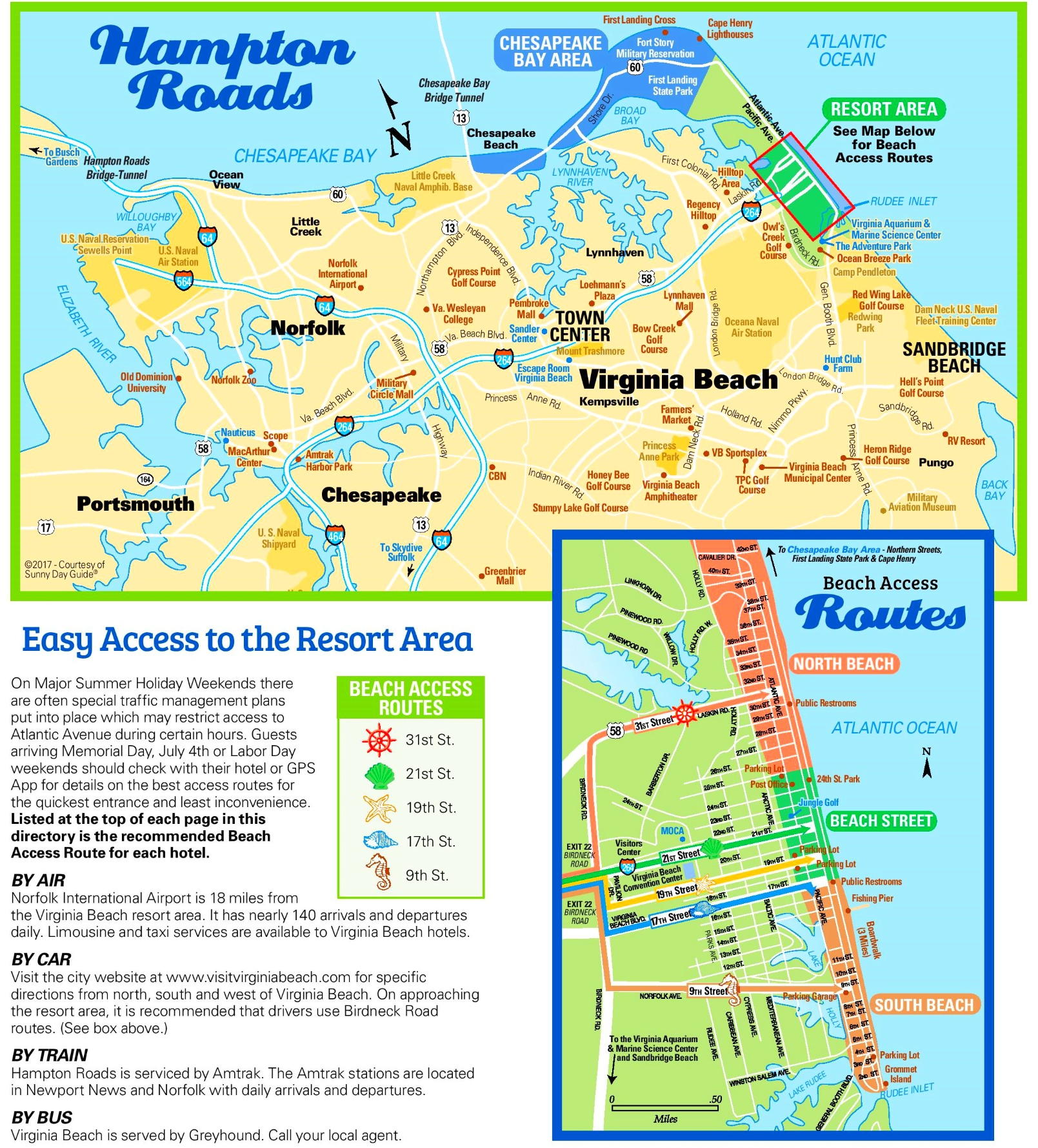 Virginia Beach Tourist Map