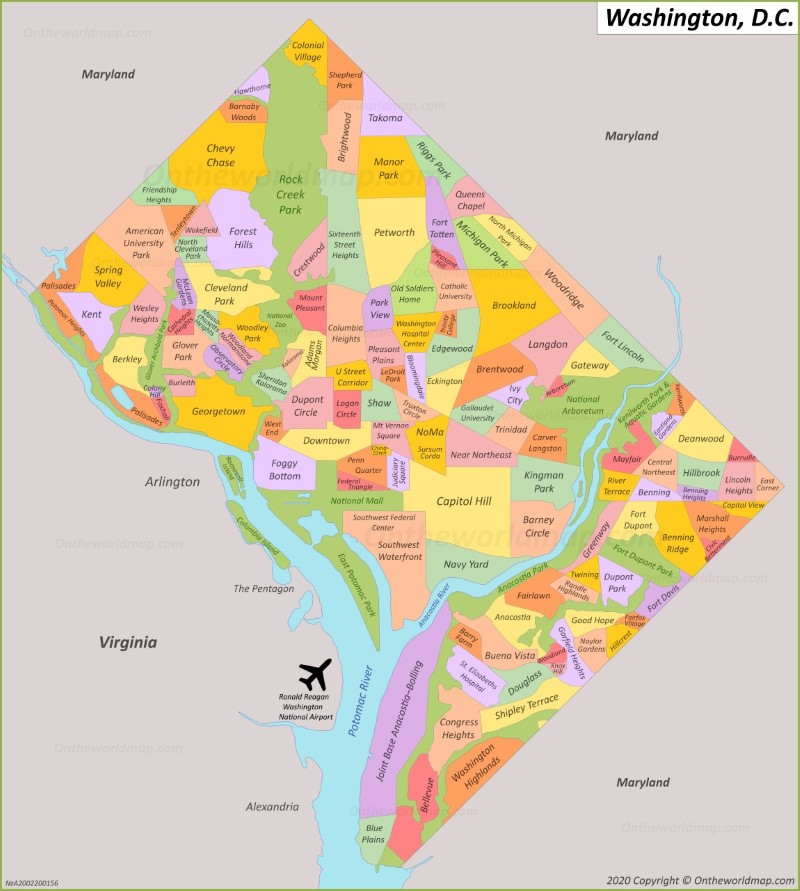 us map district of columbia Washington D C Maps U S Maps Of Washington District Of