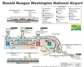 Ronald Reagan Washington National Airport map