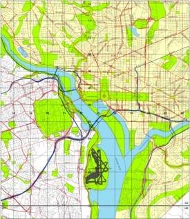 Washington DC Maps US Maps of Washington District of