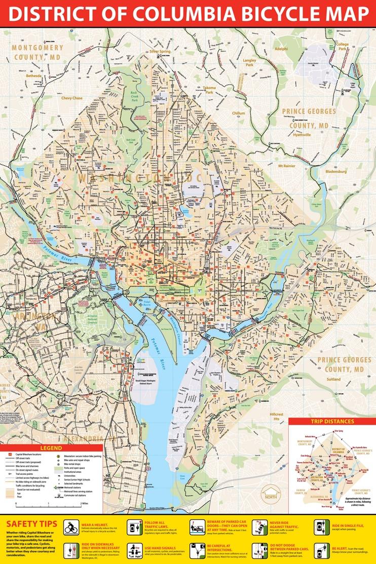 Washington, D.C. bike map