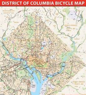 Washington, D.C. bike map