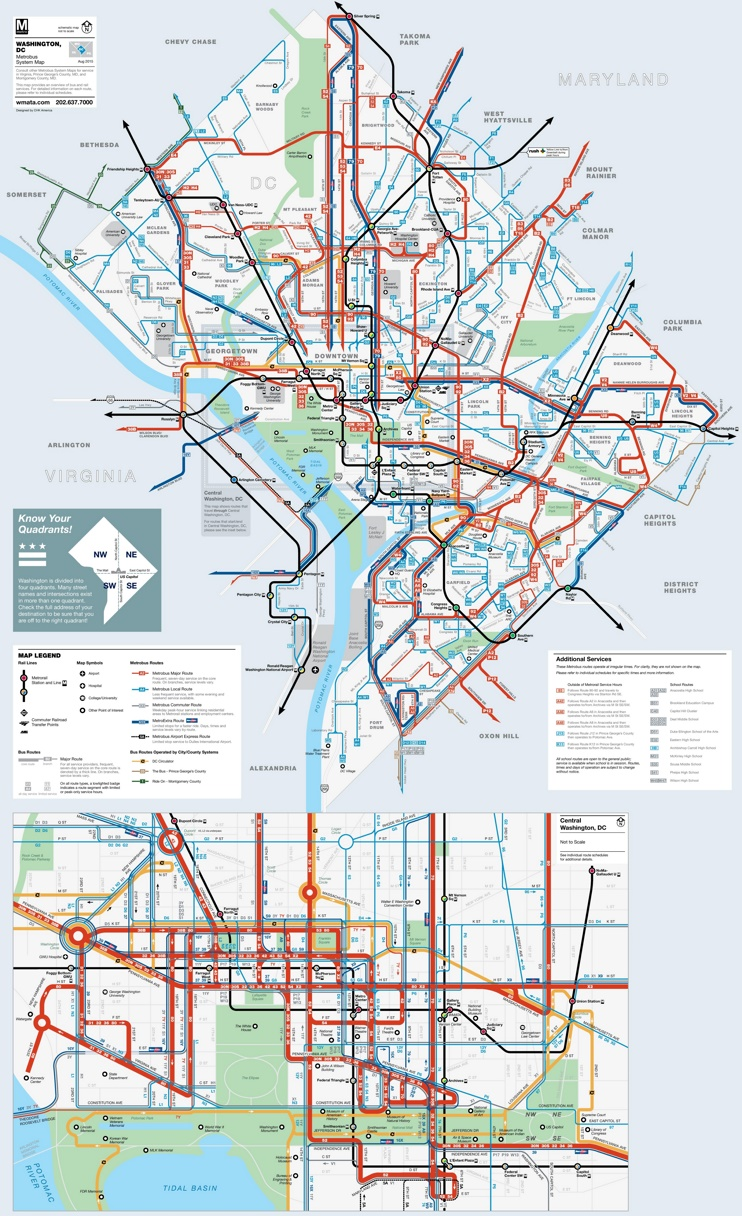 Washington, D.C. subway map