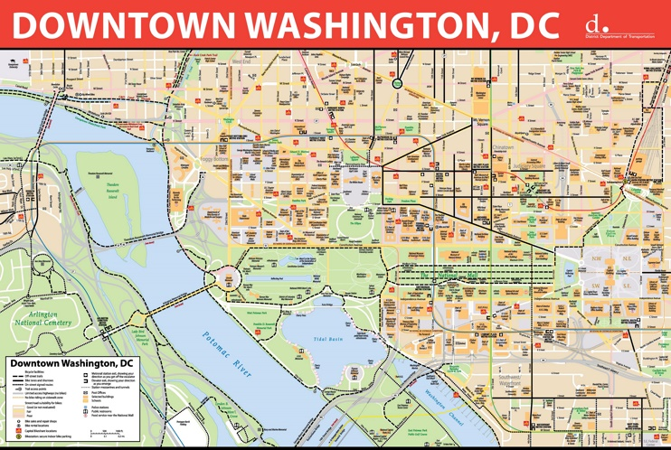 Washington, D.C. downtown bike map