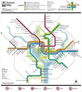 Washington, D.C. metro map
