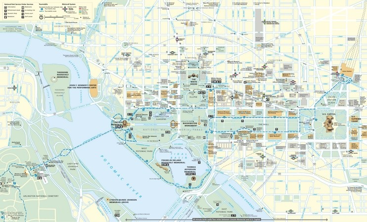 Washington, D.C. tourist map