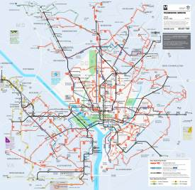 Washington, D.C. transport map
