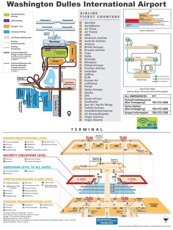Washington Airports Map Washington Dulles International Airport map