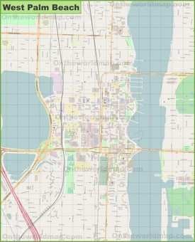 Large detailed map of West Palm Beach