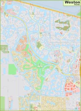 Large detailed map of Weston
